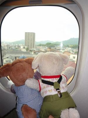 新幹線は早いねえ