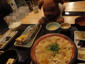 お昼は和食で